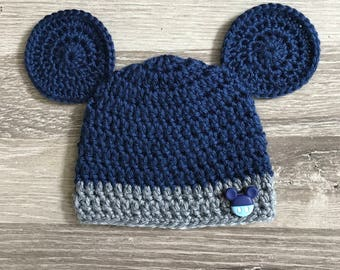 Newborn Baby Boy Disney Mickey Mouse Inspired Crochet Hat - Mickey Mouse  Inspired Baby - Disney Themed Baby Shower - Mickey Baby Shower 1817bf91d07f
