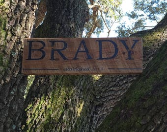 Personalized Antique Style Wooden Name Sign
