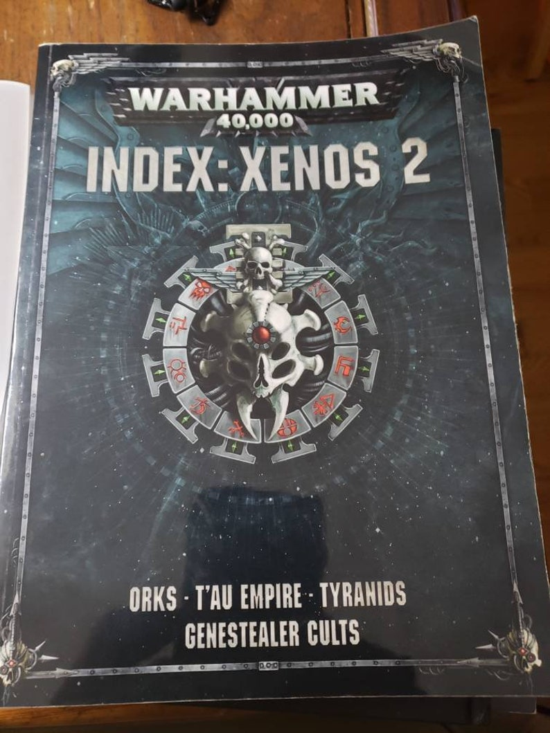 40k 8th Edition Index Xenos Orks Tyranids T'au Genestealer Cult Rulebook  Warhammer 40k
