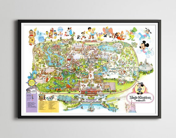 Vintage 1979 DISNEY WORLD Park Map Poster! (24 x 36 or Smaller!) - on