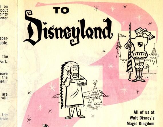 "Disney Park up to 24 x 36 Vintage 1979 DISNEYLAND /""Dial Guide/"" Key POSTER!"