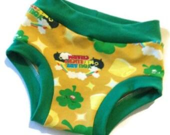 Lucky Charm Undies - Size 3/4 - Toddler Underwear - Ready to Ship - Kid scrundies - Saint Pattys Day
