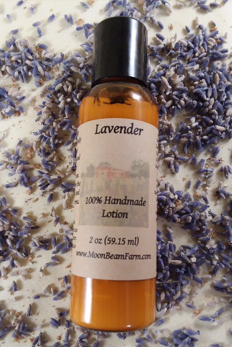 Lavender Handmade Lotion - Aromatherapy Hydrating Lotion - Essential Oil  Lotion - 2oz