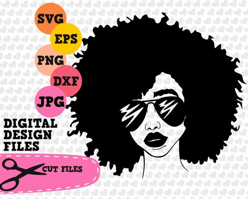 Download Curly Afro SVG Afro Diva Afro Woman SVG Black Queen Svg | Etsy