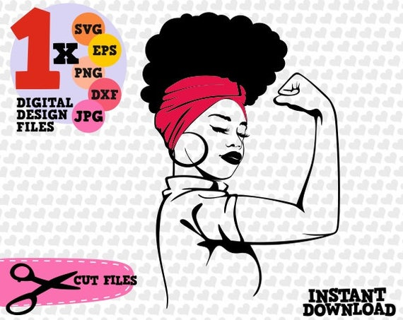 Strong Queen Diva, Afro woman, svg, dxf, png, jpg, digital cut file, for  cutting machines, personal, commercial, Silhouette, Cameo, Cricut