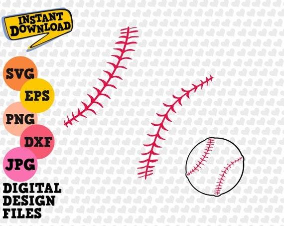 Baseball Laces Svg Softball Frames Svg Cricut Softball Cut | Etsy