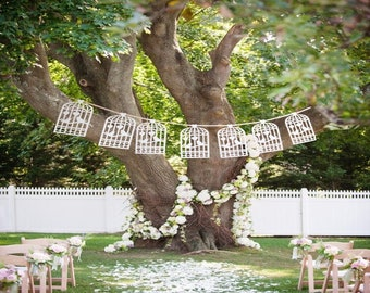 Wedding Decoration Banner, Garden Party Decoration, Bird Cage Decoration,  Outdoor Party Decorations,