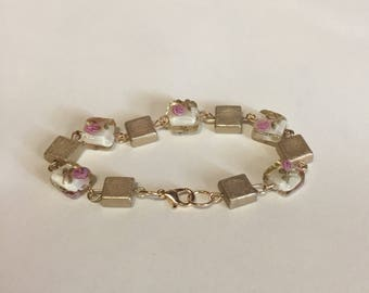 Beaded chain link bracelet
