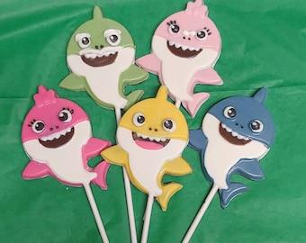 BABY SHARKS LOLLY MOLD chocolate candy molds shark