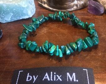 Male bracelet in Malachite Grade A