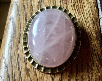 Large vintage brooch in Quartz Rose