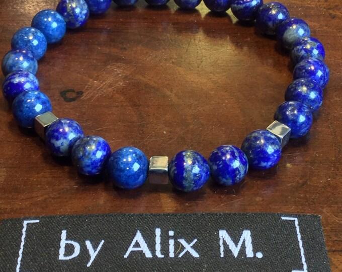 Featured listing image: Bracelet pour Homme en Lapis-lazuli ! Plus bleu que le bleu de tes yeux...