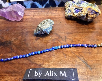 Bracelet in Lapis lazuli 4mm