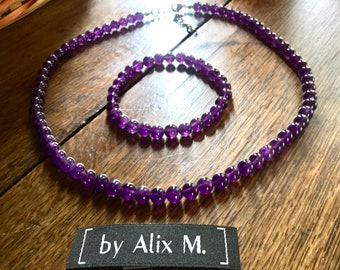 Neck collar and Grade Amethyst Grade A purple Amethyst