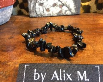 Bracelet Homme en Onyx et Hématite