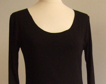 The black sheath, length 120 cm in beautiful jersey dress