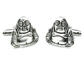 Laughing Buddha Cufflinks - Lucky Cufflinks - Spiritual Cufflinks - Unique Gift For Him - Anniversary Cufflinks - Smiling Buddha Cuff links