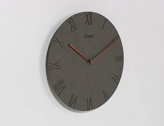 Minimal Clock/concrete Clock/wooden Minimal Decor Clock/wood | Etsy