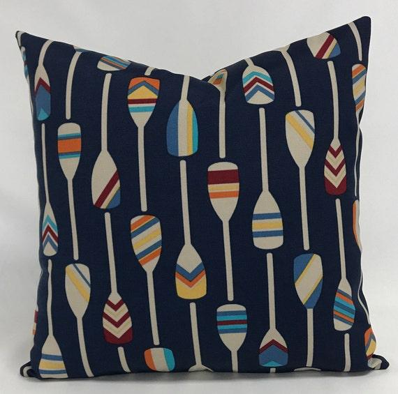 Pillow Cover Outdoor Pillow Nautical Pillow Oar Design Etsy