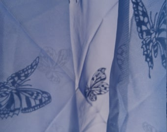 Vintage Blue Butterfly Scarf