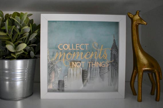 Moments Not Things Shadow Box: New York City **Black Frame ...