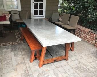 Concrete Table Etsy - Concrete slab coffee table