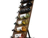 Rustic State Farmhouse Rioja Reclaimed Wood Free Standing Wine Rack Holder Display for 7 Bottles