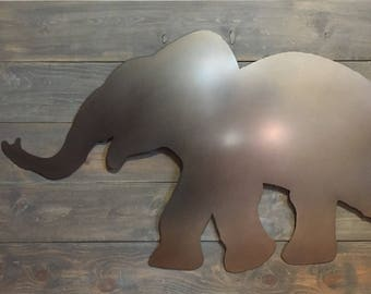 Baby Elephant Plasma Cut Steel