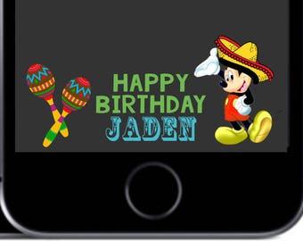 Mickey Mouse Fiesta Snapchat Geofilter  91d44ccdbfa