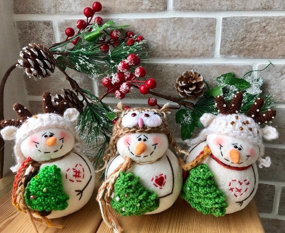 Christmas Snowmen Decorations.Snowman Snowman Decor Christmas Ornament Primitive Snowman Christmas Decor Holiday Decorations Snowmen Decorations Snowmen Family