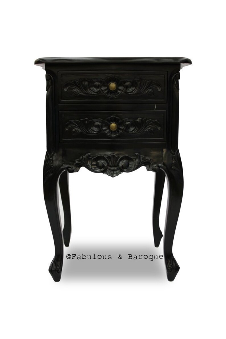 Cosette Side Table Black Lacquer