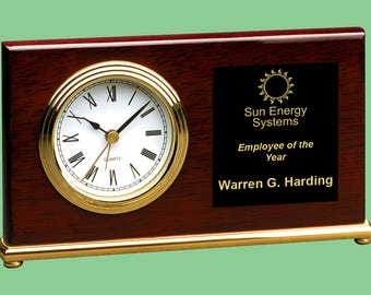 Personalized Desk Clock Etsy