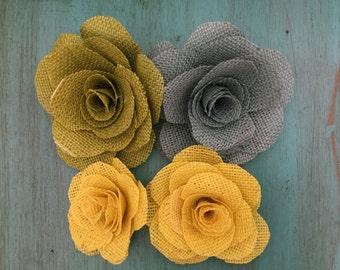Burlap, Flowers