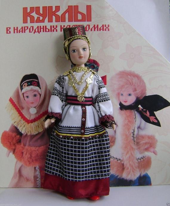 Porcelain doll handmade in national costume MONGOLIAN HOLIDAY DRESS № 16