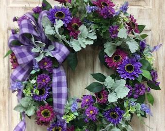 Purple Door Wreath Etsy