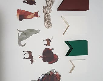Handmade Woodland Animals Bunting Kit