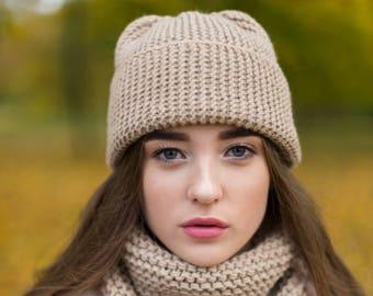 Winter beanie knitt hat