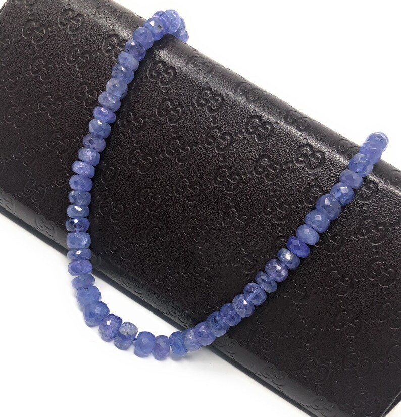 6-7mm Natural Tanzanite Gemstone Beads Wholesale Jewelry Supplies for Jewelry Making Bulk Gemstone Beads