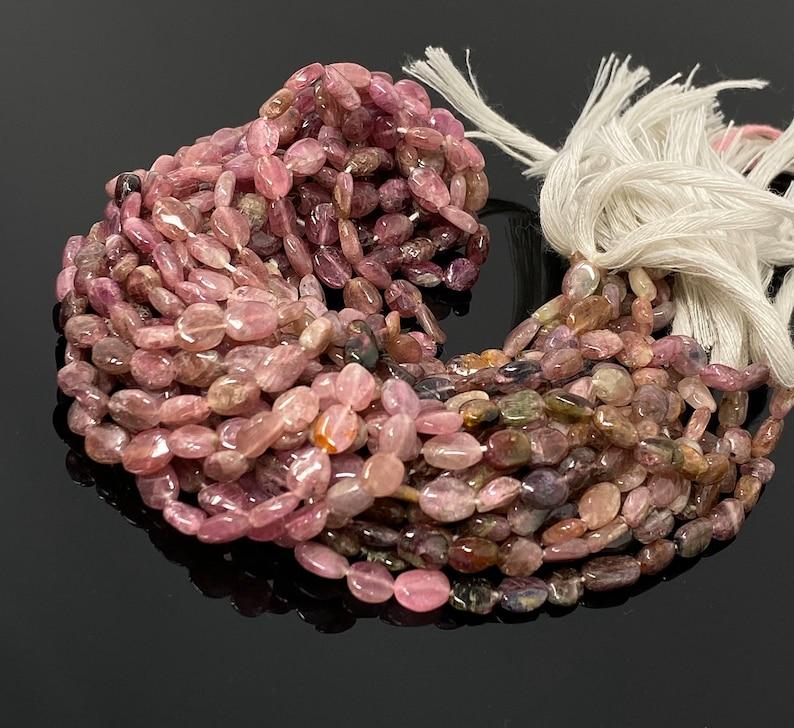 Wholesale Bulk Beads 13.5 Strand Jewelry Supplies for Jewelry Making Pink Tourmaline Beads Smooth Shaded Tourmaline Gemstone Beads