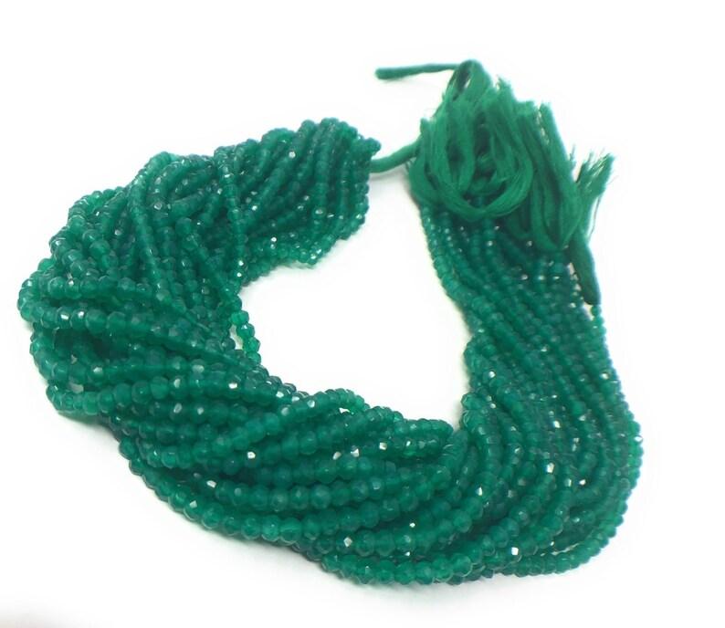 Jewelry Supplies fir Jewelry Making Gemstone Beads Bulk Beads Wholesale Beads Green Onyx Beads 13 Strand 4-5mm