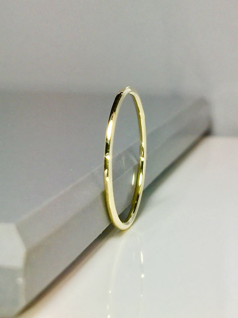 SALE 14k 10k Solid Gold Band  Gold Midi Rings  Gold Stacking image 0