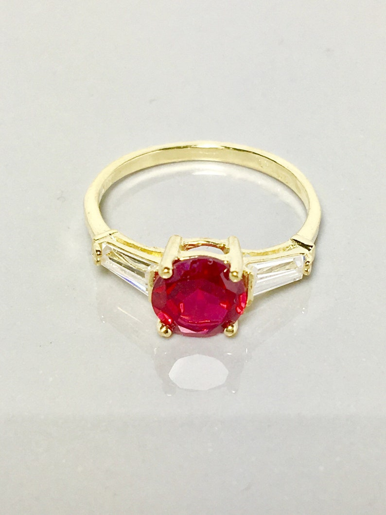 50dbc0603f3945 New 14k real solid gold womens ring ladies ruby ring womens | Etsy