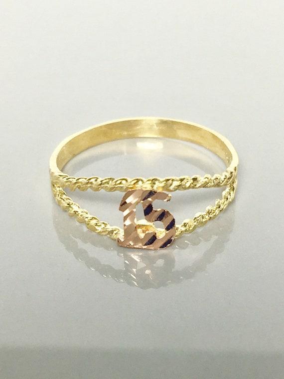 Birthday Ring 15th Birthday Gold Ring Quienceanera Etsy