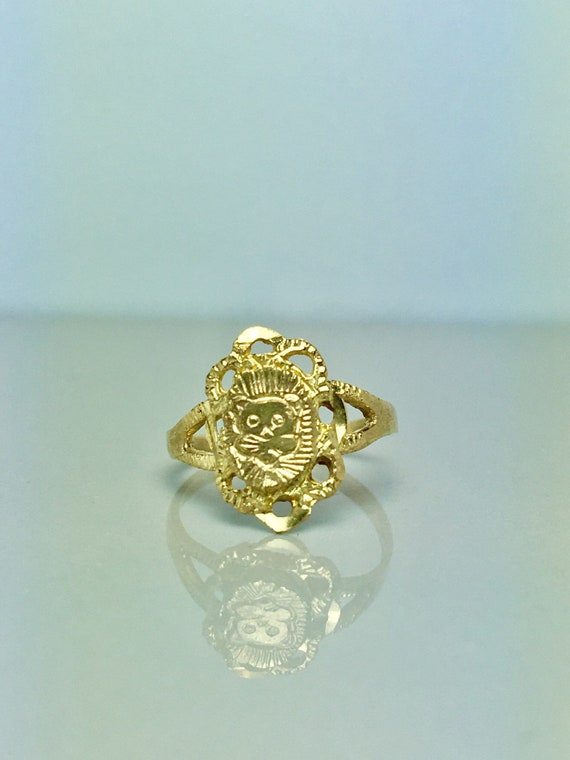 10k Solid Gold Baby Rings - Gold Cat Rings - Gold