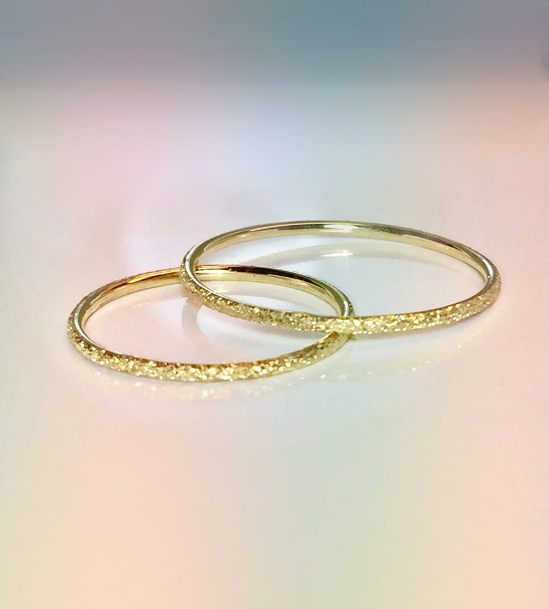 c9226c00d0466 14k/10k Solid Gold Sparkly Ladies Ring - Dainty Gold Ring - Gold Pinky Ring  - Bridesmaid Ring Gold - Gold Midi Ring -Stacking Ring Sale