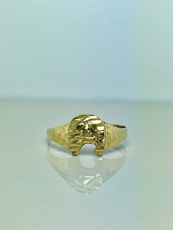 10k Solid Gold Baby Rings - Gold Horse Rings - Gol