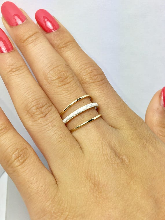 BIG SALE 14k10k Solid Gold Couple Ring Gold rings- Gold Pinky Ring Stacking Gold Rings Simple Gold Ring Girls Gold Rings