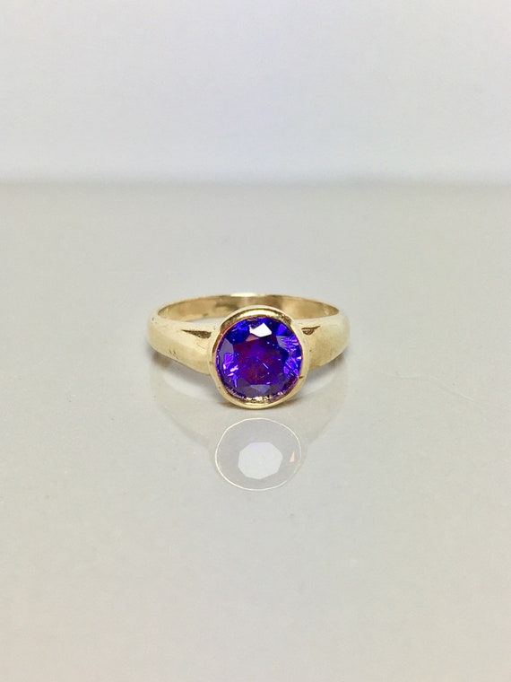 10k Solid Gold Baby Rings - Amethyst Rings - Gold