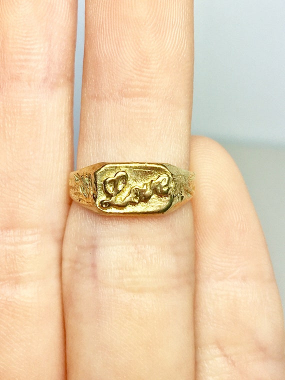 10k Solid Gold Baby Rings - Gold Pinky Rings - Gol