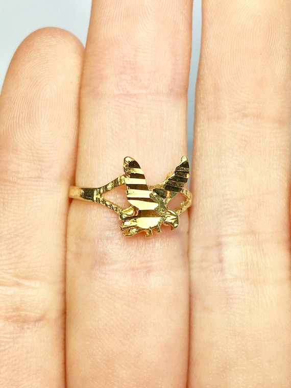 10k Solid Gold Baby Rings - Gold Eagle Rings - Gol